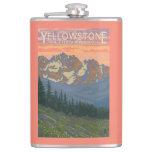 Spring Flowers - Yellowstone National Park Hip Flask