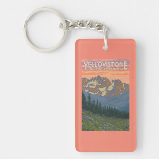 Spring Flowers - Yellowstone National Park Acrylic Keychains