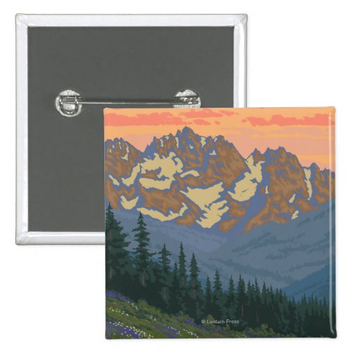 Spring Flowers - Yellowstone National Park Pin