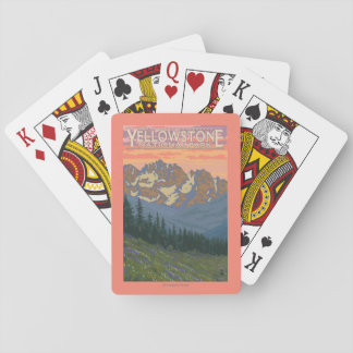 Spring Flowers - Yellowstone National Park Playing Cards