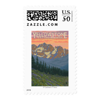 Spring Flowers - Yellowstone National Park Postage