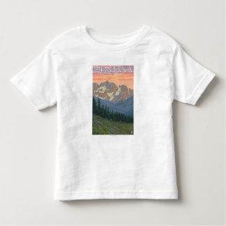 Spring FlowersMontanaVintage Travel Poster T Shirt