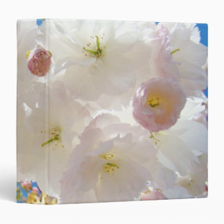 Spring Fluffy Pink White Tree Blossoms binder