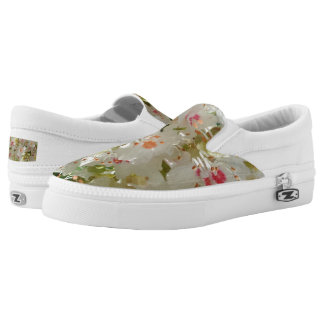 Spring Flwr Custom Zipz Slip On Shoes,Men & Women