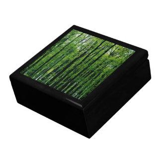 Spring Forest tile-top wood box Trinket Boxes