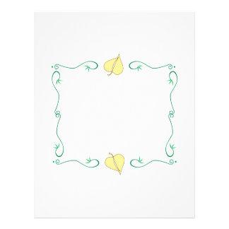 Spring Frame Letterhead Template