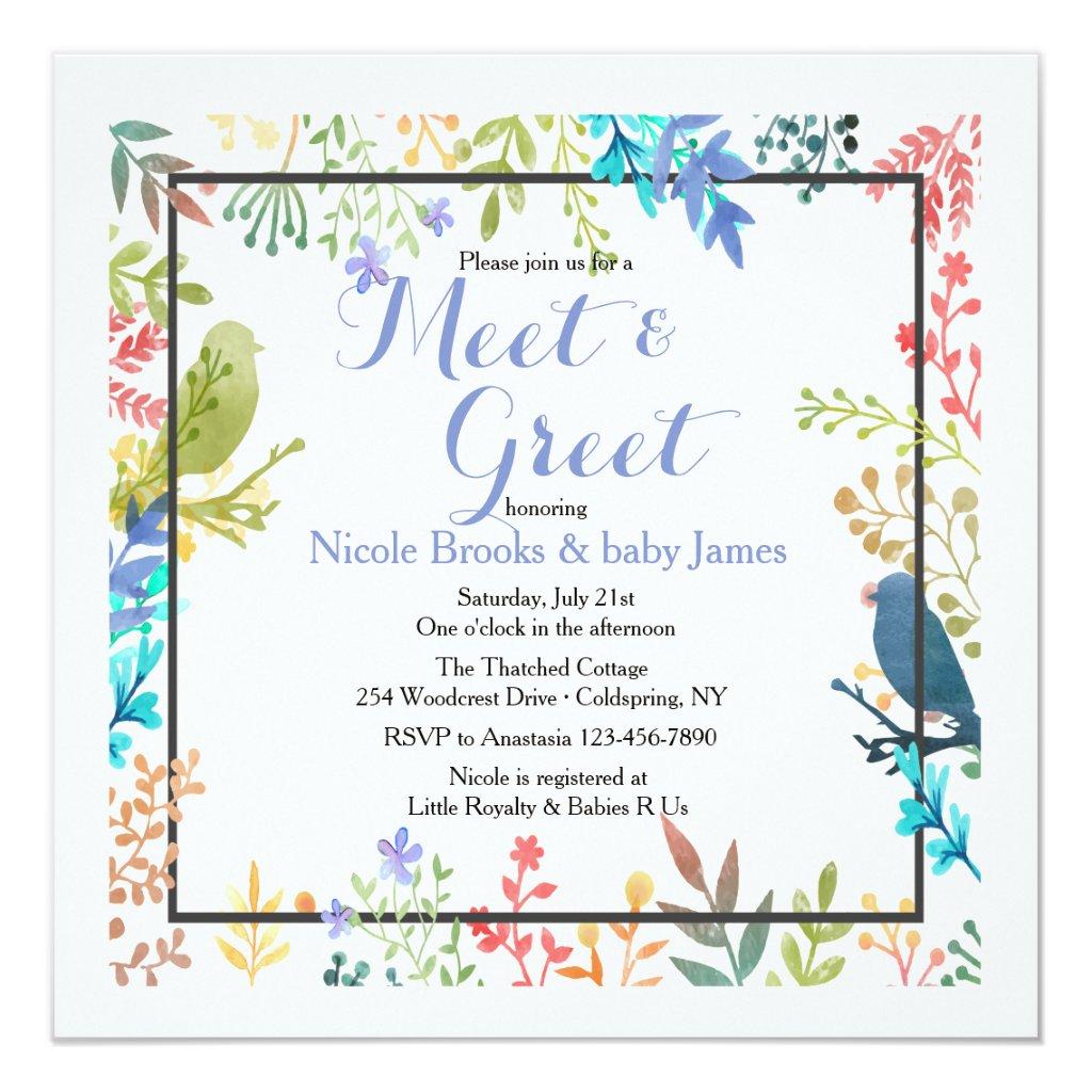 Spring Frame Meet & Greet Invitation