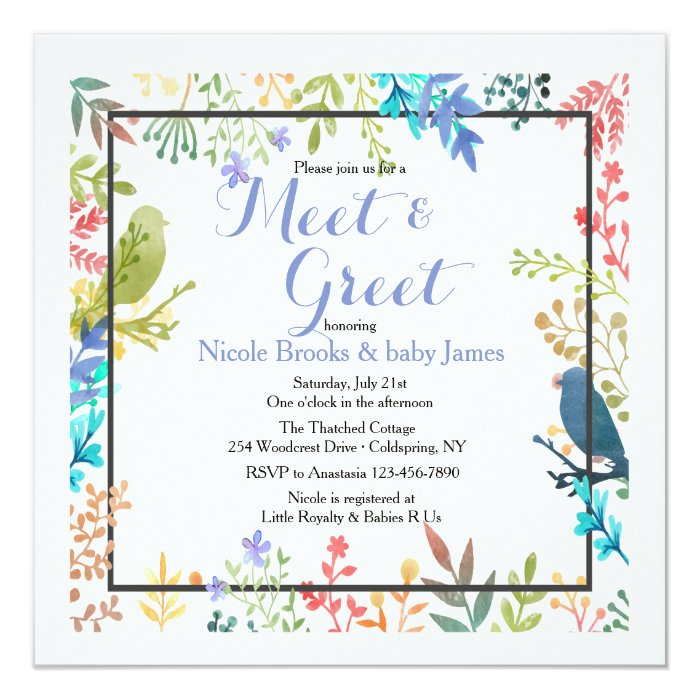Spring Frame Meet & Greet Invitation | Zazzle