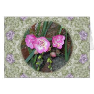 Spring Freesia Circle Card