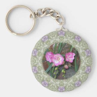 Spring Freesia Circle Key Chain