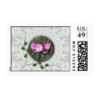 Spring Freesia Circle Postage Stamp