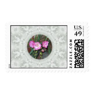 Spring Freesia Circle Stamp