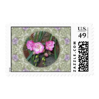 Spring Freesia Circle Postage