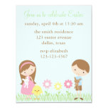 "Spring Friends Easter Celebration Invitations 4.25"" X 5.5"" Invitation Card"