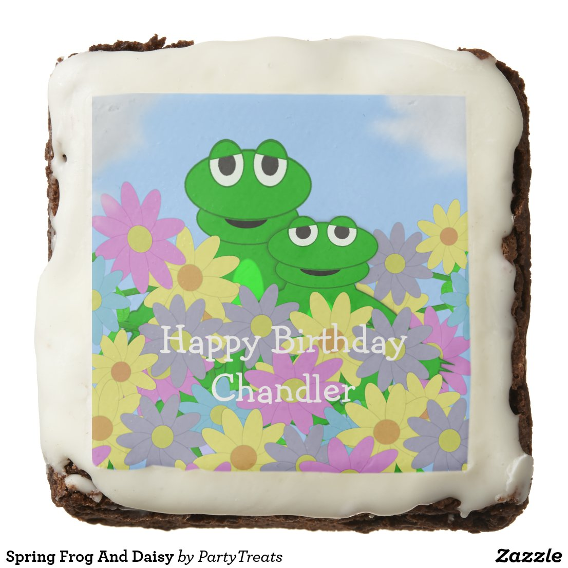 Spring Frog And Daisy Brownie