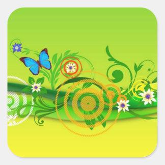 Spring Frolic Square Sticker