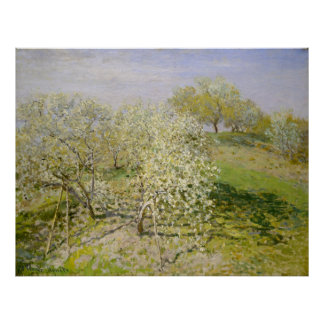 Spring (Fruit Trees in Bloom) Claude Monet Poster