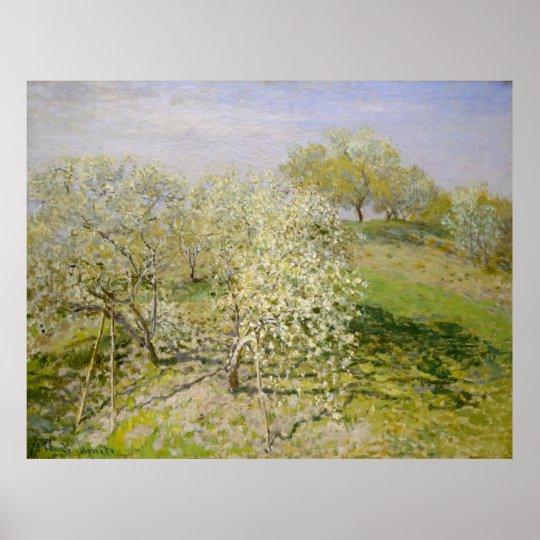 Spring (Fruit Trees in Bloom) Claude Monet Poster