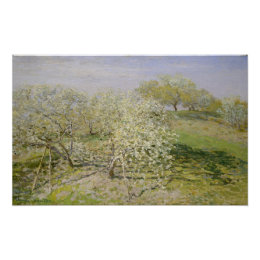 Spring Fruit Trees in Bloom Poster