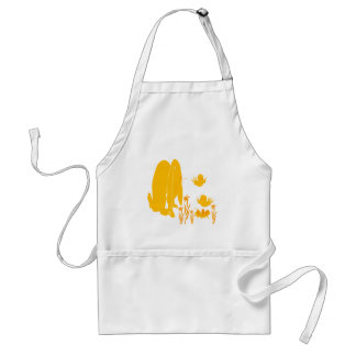 Spring Garden Afternoon Adult Apron