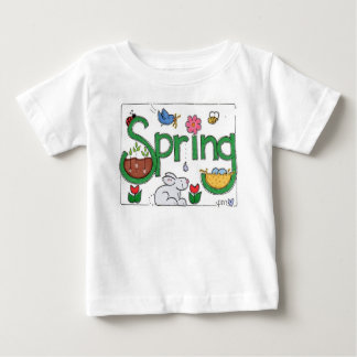 Spring Garden Baby Infant White Jersey T-Shirt