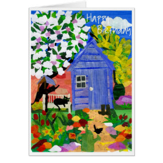 'Spring Garden' Birthday Card