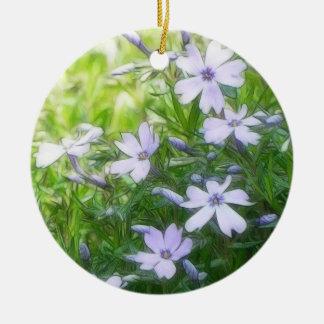Spring Garden Blues - Creeping Phlox Ceramic Ornament