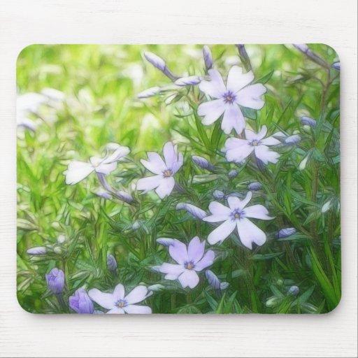 Spring Garden Blues - Creeping Phlox Mouse Pad
