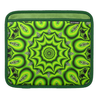Spring Garden, Bright Abstract Lime Green Sleeves For iPads