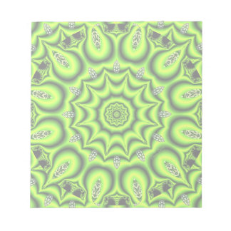 Spring Garden, Bright Abstract Lime Green Memo Notepads