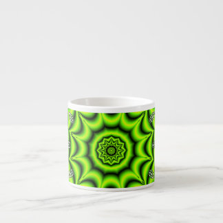 Spring Garden, Bright Abstract Lime Green Espresso Cups