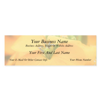 Spring Garden - Cheiranthus allionii Business Card Template