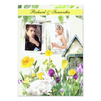 Spring Garden Custom Photo 5x7 Wedding Invitation