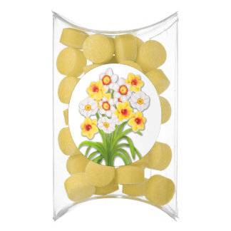 Spring Garden Daffodils Gum Party Favors
