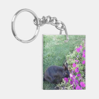 Spring Garden Double-Sided Square Acrylic Keychain