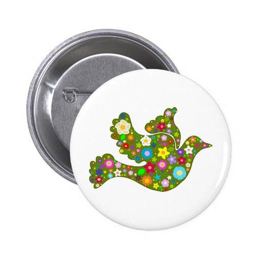 Spring Garden Dove Button