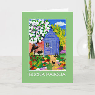 Italian easter greetings gifts on zazzle spring garden easter card italian greeting m4hsunfo