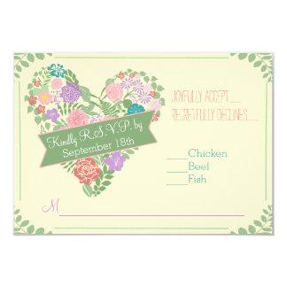 Spring Garden Flower Wedding RSVP Card