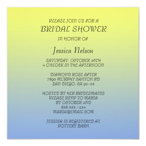 Spring Garden Flowers Bridal Shower Invitation Personalized Announcement