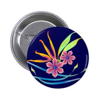Spring Garden Flowers Button