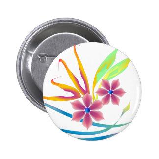 Spring Garden Flowers Pinback Button
