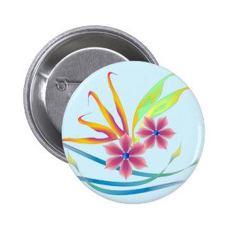 Spring Garden Flowers Pinback Buttons