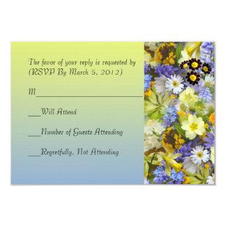 Spring Garden Flowers RSVP card