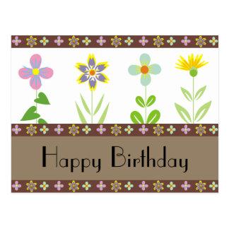 Spring Garden Happy Birthday Postcards