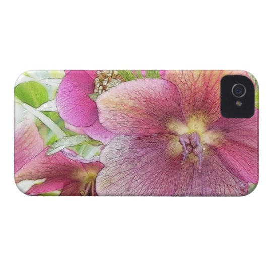 Spring Garden - Hellebore Flowers iPhone 4 Case