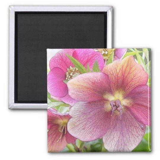 Spring Garden - Hellebore Flowers Magnet