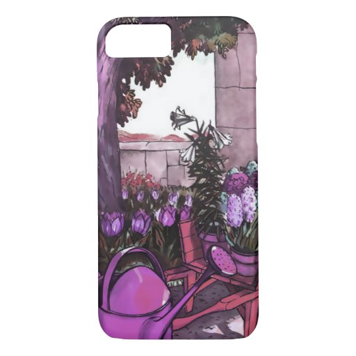 SPRING GARDEN in LILAC, PINK and TEAL iPhone 8/7 Case