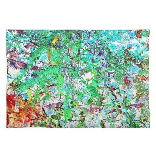 Spring Garden Inner Light Art Photo Fabric Print Placemat
