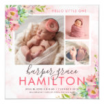 Spring Garden Magnetic Photo Birth Announcement