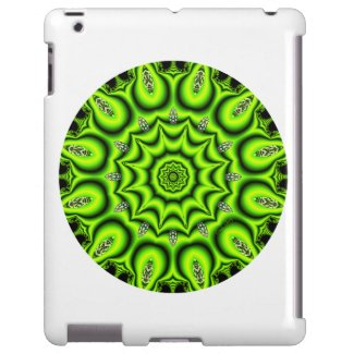 Spring Garden Mandala, Bright Abstract Lime